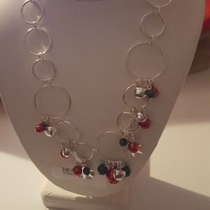 2PC CHRISTMAS Circle  necklace  earring
